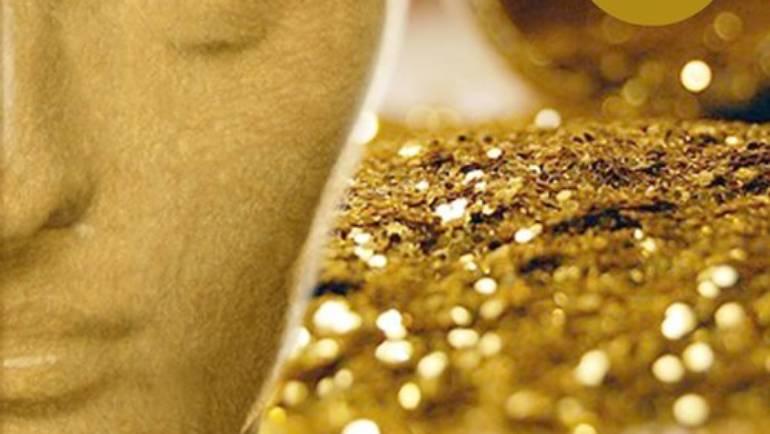 Nieuw! Gold skin mask